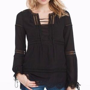 WhiteHouseBlackMarket Karlee Boho peasant blouse